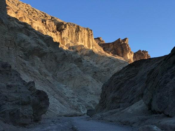 Sun Rising Over Golden Canyon