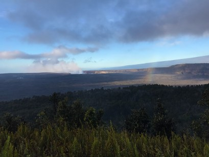 View of Kilauea Crater Lava From Volcano House