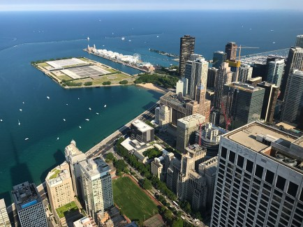 View of Navy Pier From the 360 Chicago Observation Deck