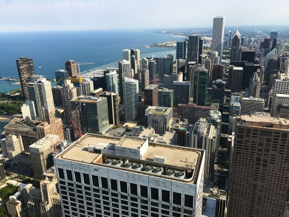 View of the Museum Campus and Downtown Chicago from 360 Chicago