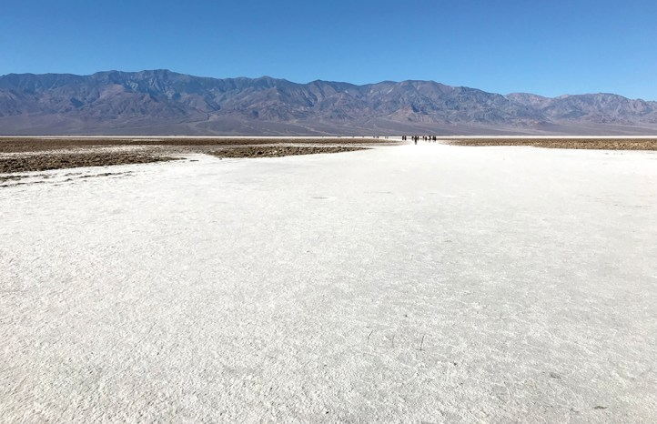 Walk onto the Badwater Basin Salt Flats