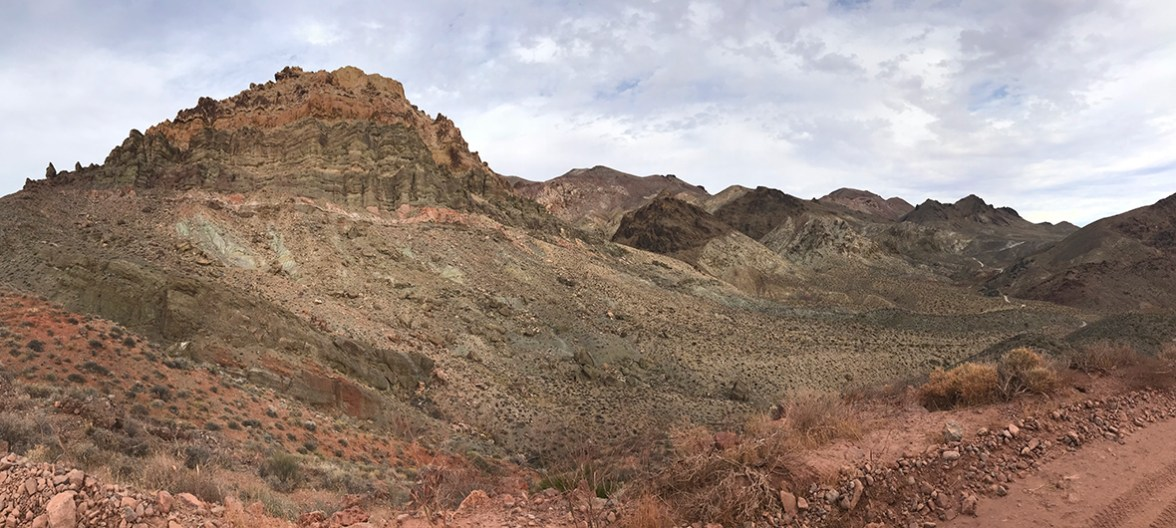 Driving Red Pass on Titus Canyon Road