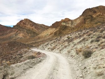 Driving Titus Canyon Road in Death Valley
