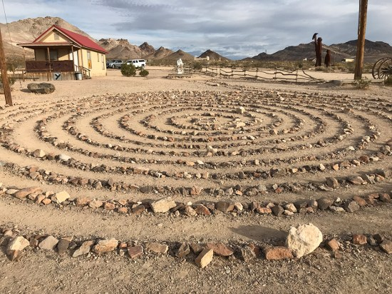 Labyrinth at the Goldwell Open Air Museum in Nevada