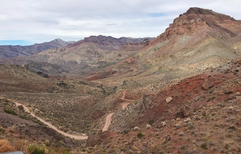Looking Back at Titanothere Canyon from Red Pass