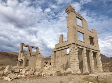 Rhyolite Three-Story Bank Ruins