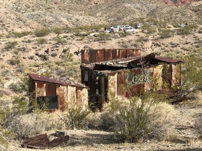 Rusty Metal Buildings at a Death Valley Ghost Town