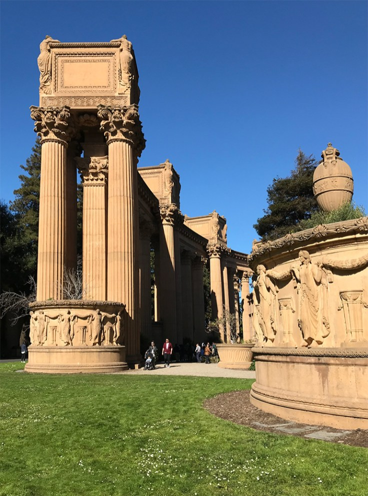Architectural Columns Surrounding the Palace of Fine Arts