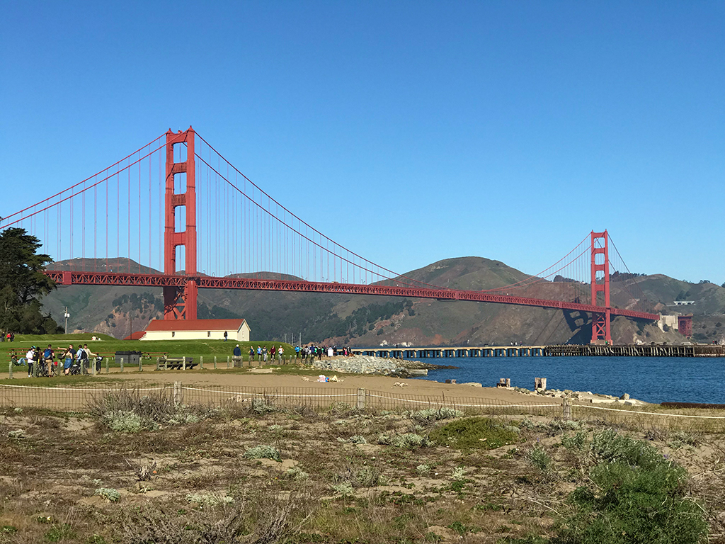 Crissy Field Promenade Trail with Views of the Golden Gate Bridge
