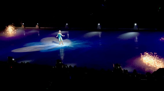 Disney On Ice in Sacramento with Queen Elsa From Frozen