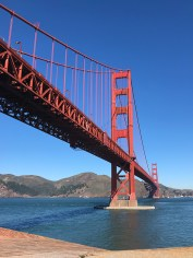 View of the Golden gate Bridge From The Fort Point Roof