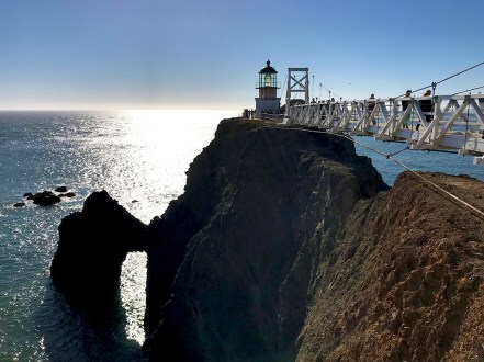 Point Bonita Lighthouse and a Sea Arch