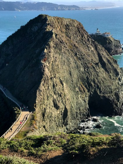 View of the Point Bonita Lighthouse from the Mendell Trail