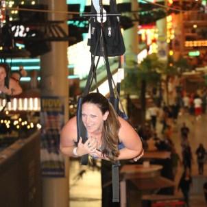 Jennifer Bourn Ziplining in Las Vegas