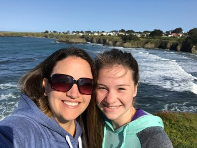 Jennifer and Natalie Bourn at the Mendocino Bay Overlook