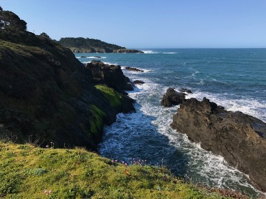 View of the Northern California Coastline from the Mendocino Bay Overlook