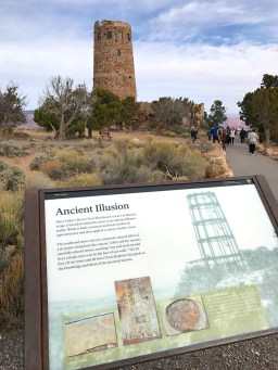 Desert View Drive Watchtower Interpretive Sign
