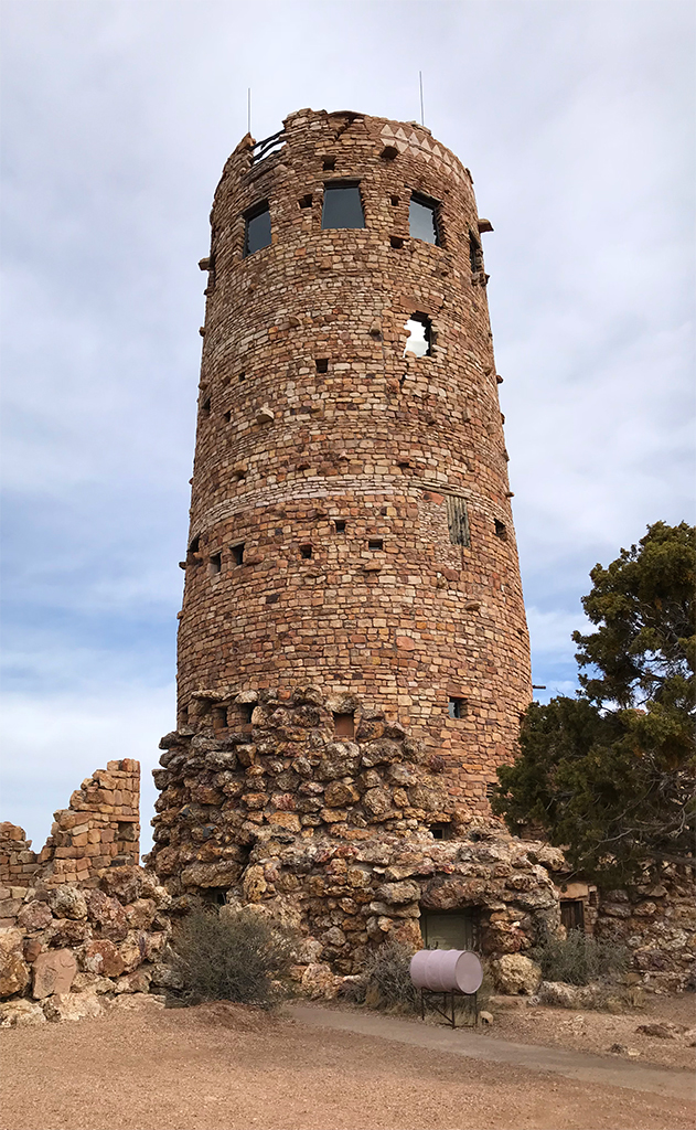 Desert View Watchtower On The Grand Canyon S South Rim