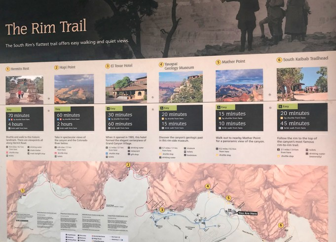 The Grand Canyon Rim Trail Display