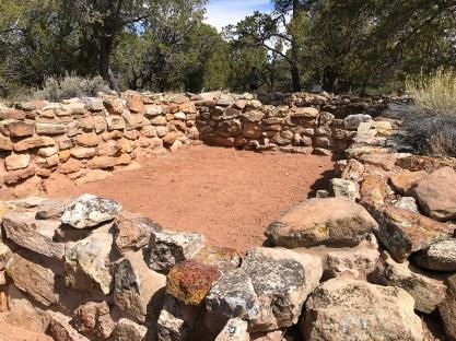 Living Quarter Ruins at the Grand Canyon Tusayan Ruins