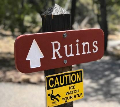 Tusayan Ruin Trail Sign