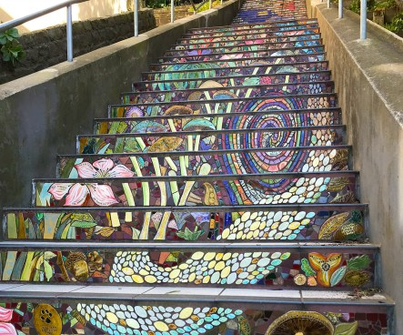 Hidden Garden Tiled Steps