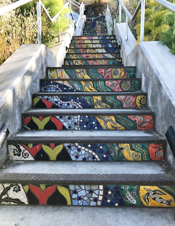 Arelious Walker Drive Tiled Stairs