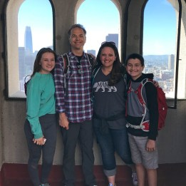 Bourn Family at the Top Of Coit Tower