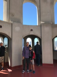 Brian and Carter Bourn atop Coit Tower