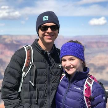 Brian and Natalie Bourn at Hopi Point
