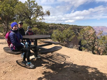 Canyon Rim Trail Picnic Table Along Hermit Road