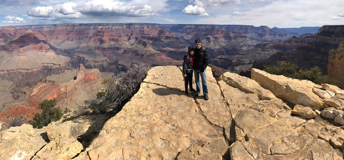Carter and Brian Bourn at Powell Point in Grand Canyon National Park