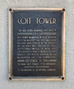 Coit Tower Plaque