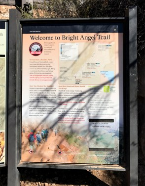 Grand Canyon Bright Angel Trail Interpretive Sign