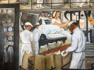 Murals of Bakers at Coit Tower