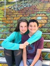 Natalie and Carter Bourn at the San Francisco Lincoln Park Tiled Steps