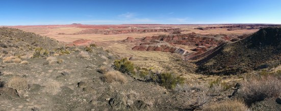 Panoramic View Of The Painted Desert From The Chinde Point Overlook