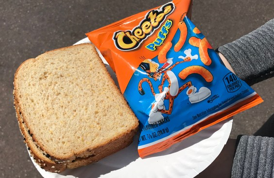 Peanut Butter Sandwich And Chips