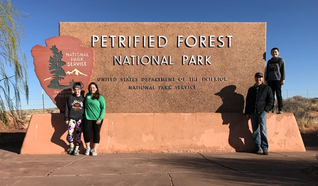 Petrified Forest National Park North Entrance Sign
