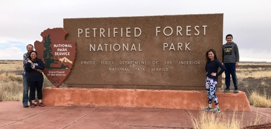 Petrified Forest National Park South Entrance Sign