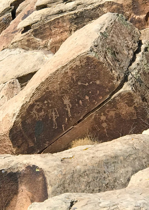Petroglyphs at the Puerco Pueblo Ruins