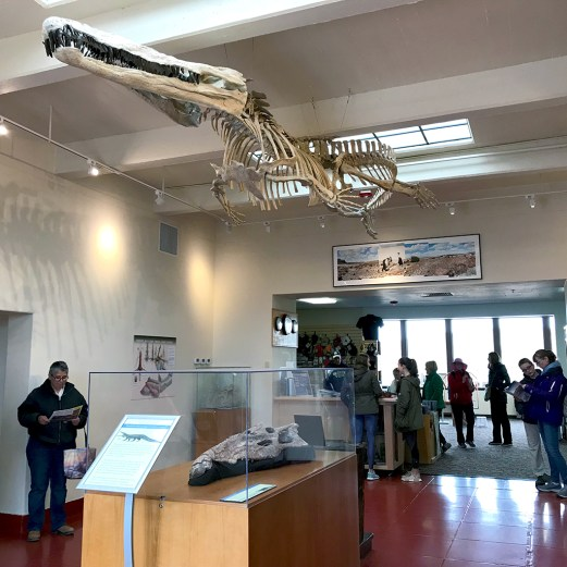 Rainbow Forest Visitor Center Entrance With Dinosaur Skeletons