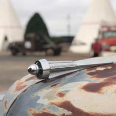 A Rusty Car Hood Ornament