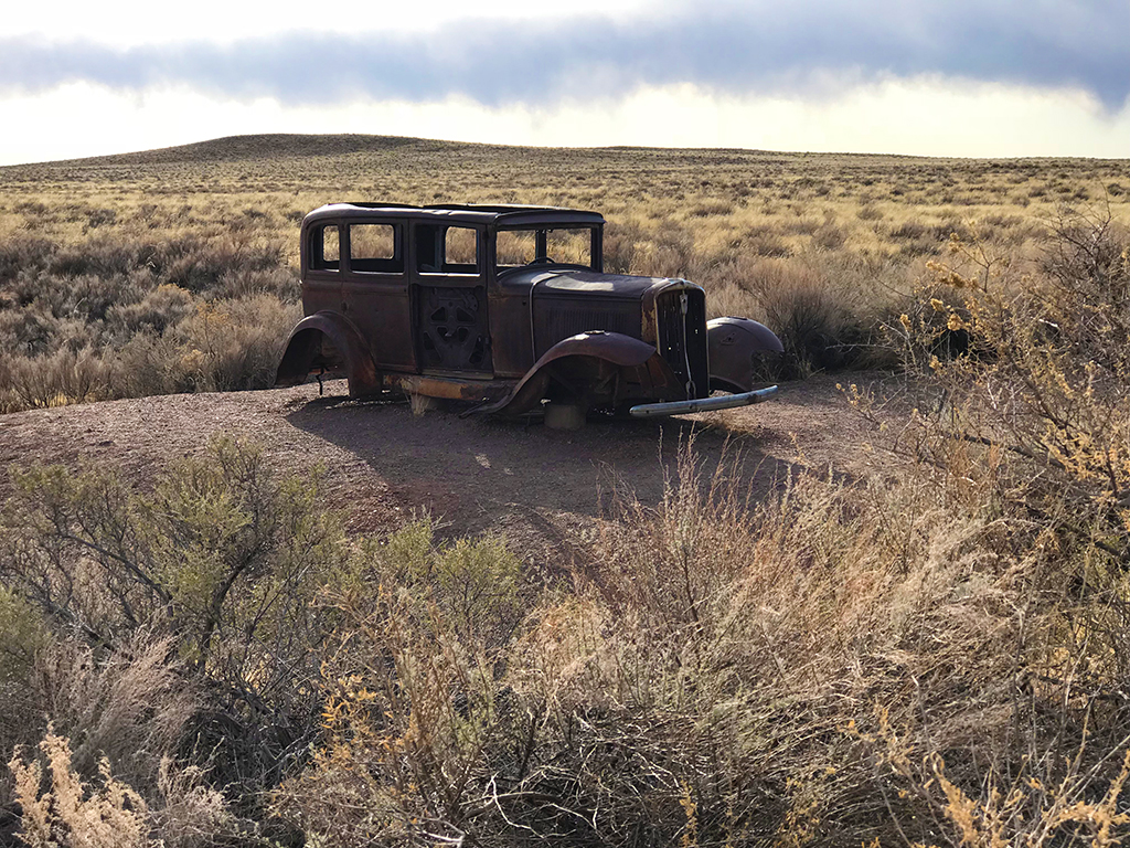 The Abandoned Studebaker at the Route 66 Monument at Petrified Forest National Park