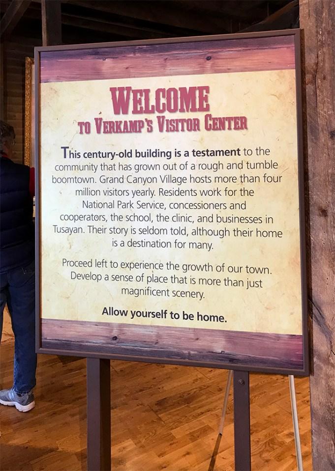 Verkamp's Welcome Sign