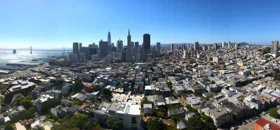 Viw of Downtown San Francisco from Coit Tower