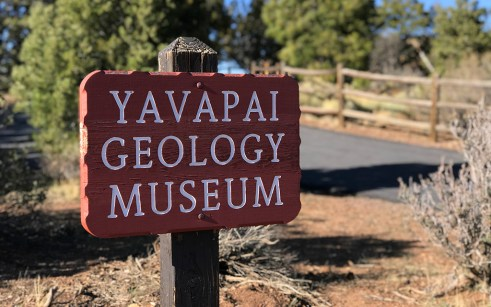 Yavapai Geology Museum Sign