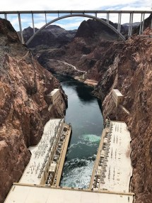 The Colorado River Meeting Hoover Dam in Black Canyon