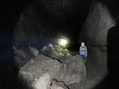 Carter Bourn Inside Lava River Cave