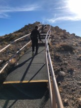 Carter Bourn CLimbing the Stairs To The Meteor Crater Viewing Platform